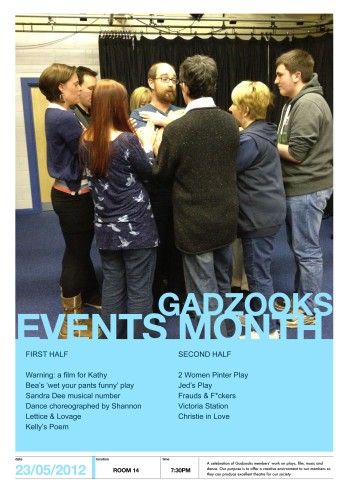 Gadzooks poster for Events Month
